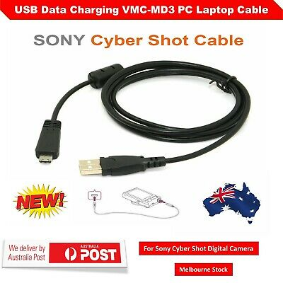 USB Data Charging New VMC-MD3 PC Laptop Cable For Sony CyberShot Digital Camera