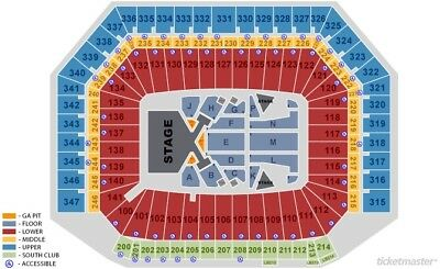 Taylor Swift Ford Field August 28 2 Floor Seats 350 00 Picclick