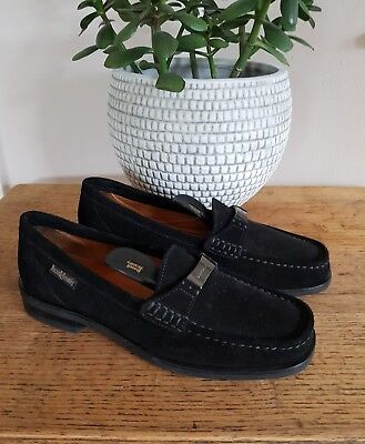Russell & Bromley Black Genuine Suede Leather Loafers Size 6 Tried On Only