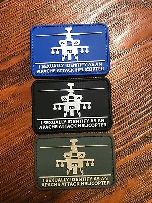 """HeliSexual """"I Sexually Identify As An Apache Attack Helicopter"""" Morale Patch"""
