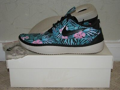 buy popular 196b3 e1a36 Nike Solarsoft Moccasin SP Floral Black Mens Size 10 Pre-owned, EUC! 622269