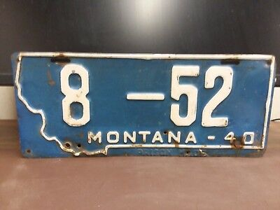 NICE 1940  Montana FERGUS CO   License Plate Tag LOW NUMBER