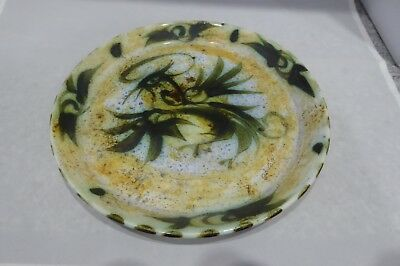 Celtic Pottery. Studio Pottery Plate. Stylised Cockerel. Cornwall UK