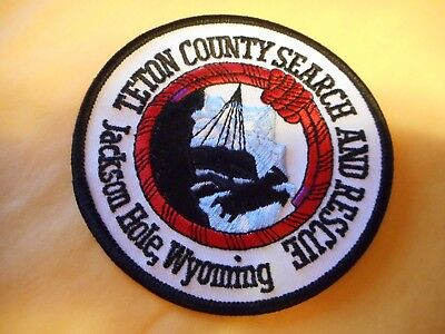 Teton County / Jackson Hole, Wyoming Search & Rescue patch - postpaid