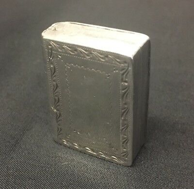 Solid Silver Vinaigrette Birmingham 1810 Joseph Willmore Book Shaped