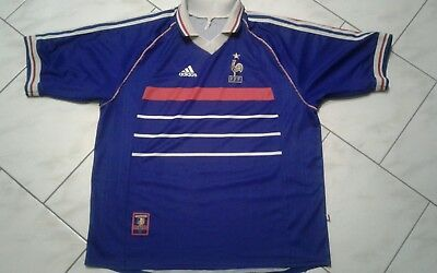 MAILLOT ADIDAS FRANCE 98   Equipe de France football 1998 vintage T ... 86d6166dc8c0