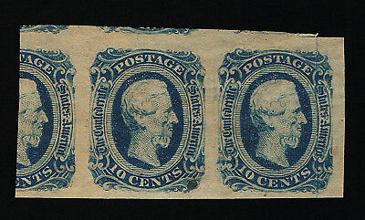 Genuine Confederate Csa Scott #12 Mint Og Nh Pair Blue Die-B Keatinge Ball