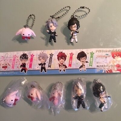 Idolish 7 Figure Mascot Keychain Gashapon Set of 8 NEW