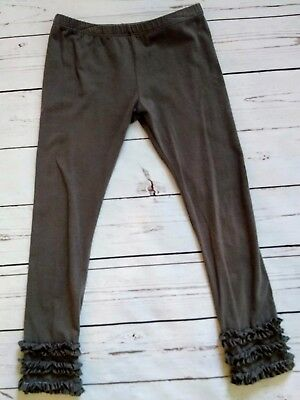 Persnickety Gray Triple Ruffle Leggings, Size 6, Free Shipping!