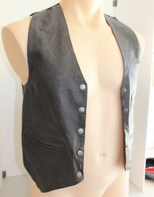 leather deer hide Waistcoat (soft) with Satin back and polyester lining.  Ntisha