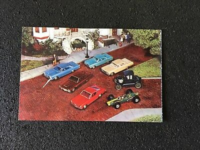 Vintage Postcard with 1965 Ford Models sent from Dub Richardson Ford Dealership