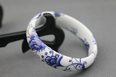 Chinese Handwork Porcelain Paint Blooming Flower Moral Exquisite Lucky Bracelet