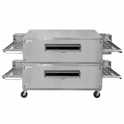 "Lincoln 3255-2 NAT GAS Impinger Double Convyeor Oven Package 55"" Baking Chamber"