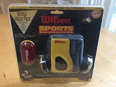 VINTAGE Wilson Stereo Cassette Player Walkman w/ Safety Flasher NEW!!! WG2303