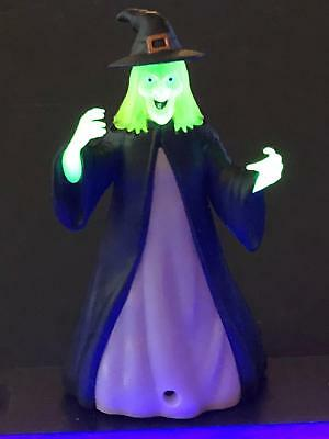 Color Changing w/Sound Plastic Witch Lighted Halloween Decoration Prop NEW