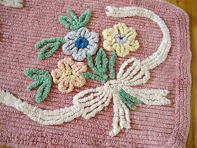 Vintage Cupcake Chenille Rug 20 x 36 Gorgeous!