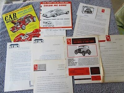 GEORGE BARRIS KUSTOM PROMO & PRESS SHEETS from George's personal files w/ COA