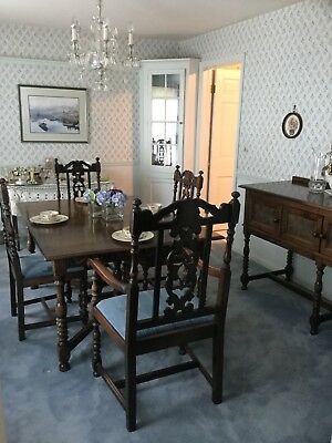THE WOOD BATIK SHOPS 8-ft Dining Table /8 Chairs/ Server Sideboard/1921/Delivery