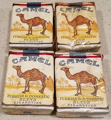 4 Vintage Camel Cigarette Packs Sealed & Full