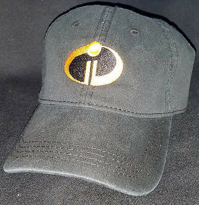 RARE New Incredibles 2 Black Adjustable Hat Pixar Animation Studio Store