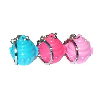 Tupperware 1 x Muffin Keeper KEYCHAIN KEYRING KEY Pick from Pink or Blue NEW!