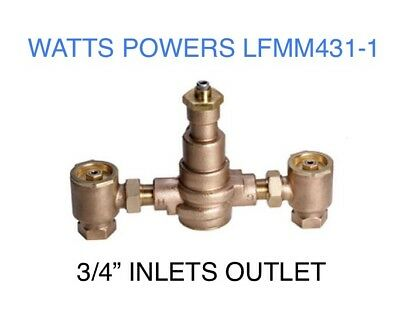 """LFMM431-1 WATTS POWERS Hydroguard Tempering Mixing Valve 3/4"""" Inch Inlet Outlet"""