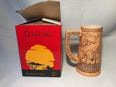 rare MUG - DISNEY the lion king simba - Bas relief mug - Applause NEW