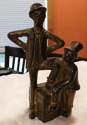 Mutt and Jeff Still Penny Bank Antique Cast Iron 1912-1931 A C Williams Original