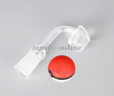 100% Quartz Banger, Thick 4mm, Frosted Joint 14mm/18mm & Poke Ball SILICONE JAR