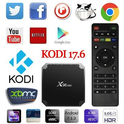 X96 Mini TV Box Android 7.1 KODI 17.6 S905W Quad Core WiFi HD 8G / 16G 4K Player
