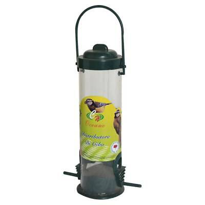 Outdoors Hanging Tan Straight Sided Tube Bird Feeder