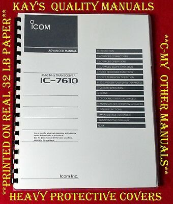 Icom IC-22a Instruction Manual ON 32 LB PAPER w/The Heavier Covers!