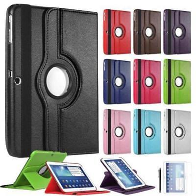 Stand Flip PU Leather Case Cover For Apple iPad Various Tablets 360°Shockproof