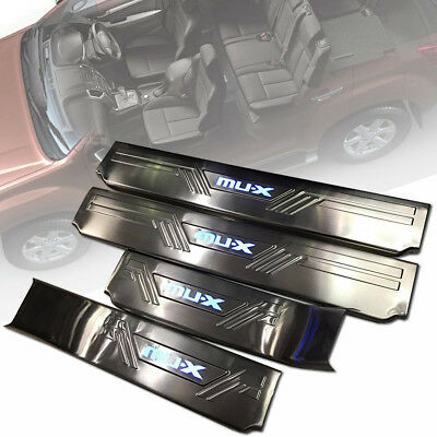 SCUFF PLATE SILL DOOR STEP CHROME WITH LEDs FIT FOR ISUZU MU-X MUX 2012-2018