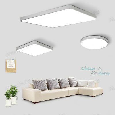 LED Ceiling Light Dimmable Thin Flush Mount Kitchen Panel Room Lamp Home Fixture