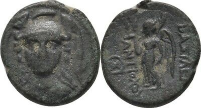 Bronze 280-261 Kingdom the Seleucid Sardis Antiochus I. Soter, Wreath #VK117