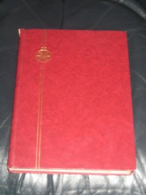 q.v to qe11 british & commonwealth stamps in stock book / stamp album