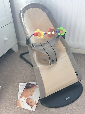 173b090c3ce BABY BJORN ORGANIC Cotton Babysitter Balance Bouncer With Wooden Toy ...