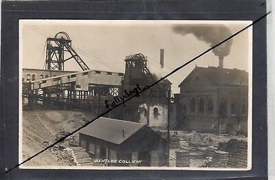 BENTLEY COLLIERY, YORKS-vintage REAL P/C - used postally