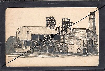 VERY RARE:HAND DRAWN LOW MOOR COLL?, YORKS-vintage REAL P/C - used postally
