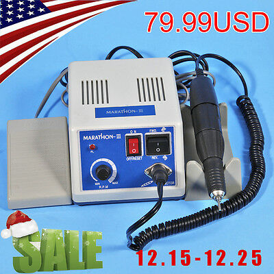 Dental Lab Marathon Micromotor Polishing Motor N3 + 35K RPM Handpiece From US SC