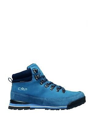 CMP Hiking Shoe Hiking Boot Heka Blue Leather Waterproof Lace Up