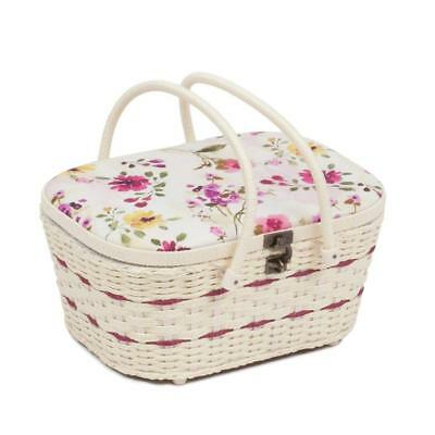 Classic Large Muse Floral Sewing Basket Double Handle Hobby Gift HGLHB/480