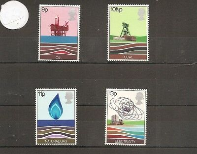 Great Britain 1978 SG1050-3 4v set NHM Energy Resources-inc Oil Rig-North Sea