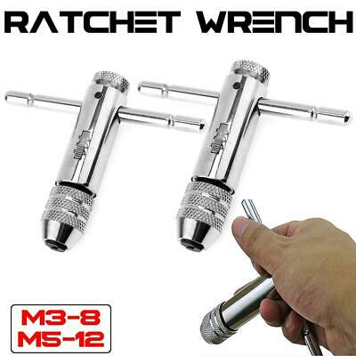 Adjustable T-Handle Ratchet Tap M3-M8 M5-12 Screw Taps Wrench Machinist Tools