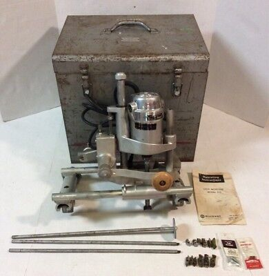 Rockwell Porter Cable Mortiser Model 513 w/ 537-M Motor In Case