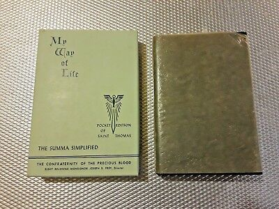 My Way Of Life -Pocket Edition Of St. Thomas 1952 with dust jacket and box