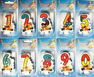Lovely Birthday Cake Toppers Number Candles Party Candle Numbers Girl 1 9 0