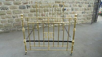 Antique Victorian Brass Double Bed Frame