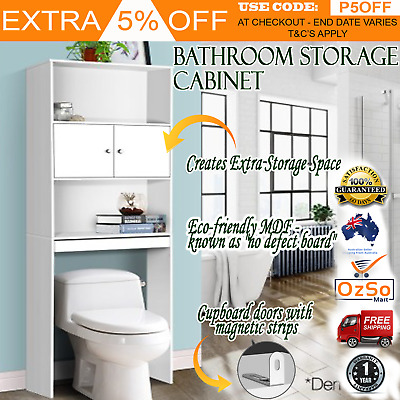 Over-the-Toilet Rack Bathroom Towel Storage Cabinet Cupboard Shelf Unit Laundry